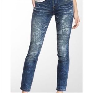 Blank NYC Desert Boho Print Skinny Jeans Sz 28